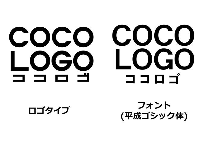 ロゴタイプの比較