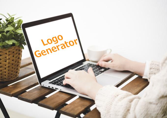 ロゴジェネレーターを操作するイメージ