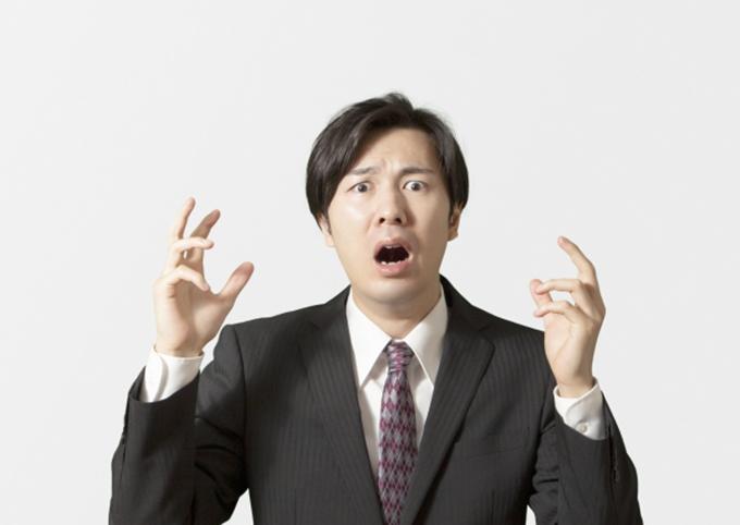 ショックを受ける人のイメージ