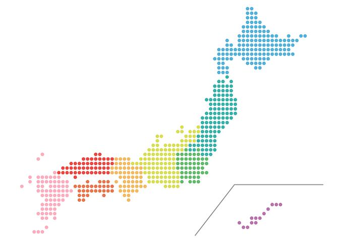 日本地図のイメージ
