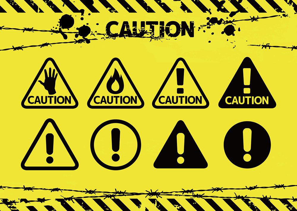 注意・警告ロゴにも使える!危険を知らせるデザインのセオリー