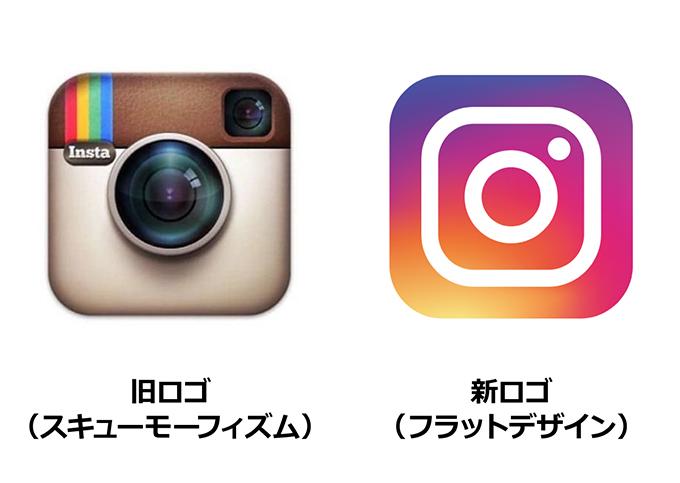 Instagramの新旧アイコンイメージ