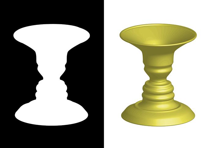 ルビンの壺イメージ